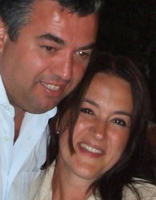 Alfredo Adamo mit Ehefrau